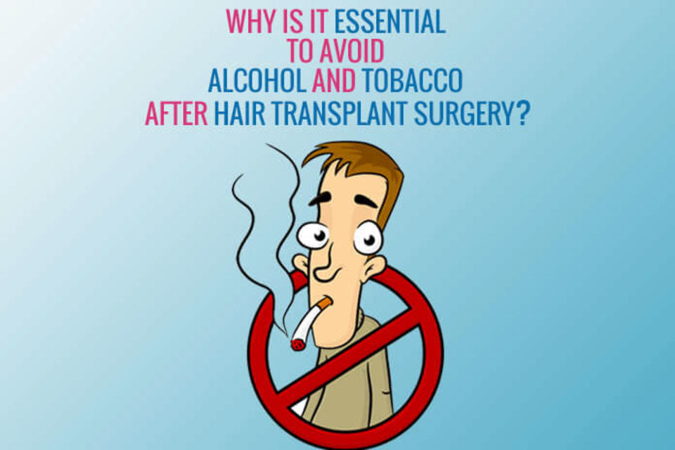 Why is it essential to avoid alcohol and tobacco after Hair Transplant Surgery?