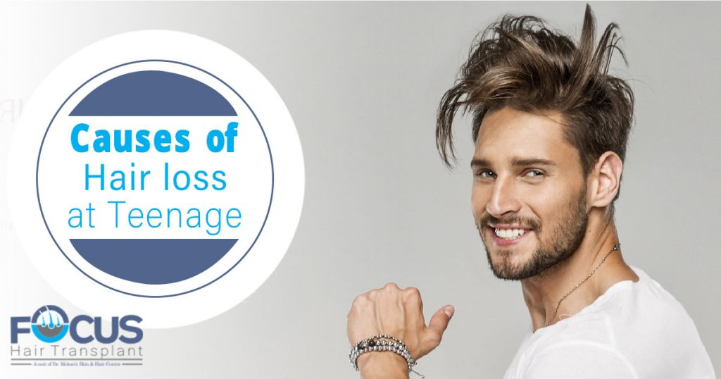 Causes of Hair loss at Teenage