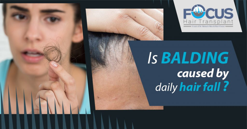 Is balding caused by daily hair fall